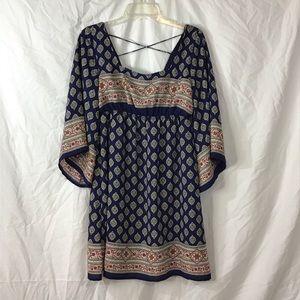 Boho Tunic Dress By Blu Pepper In M